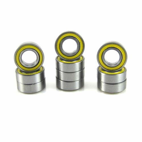 "TRB RC 10pc 3//16x3//8x1//8/"" R166-2RSYEL Precision ABEC 3 Ball Bearing Rubber Seal"