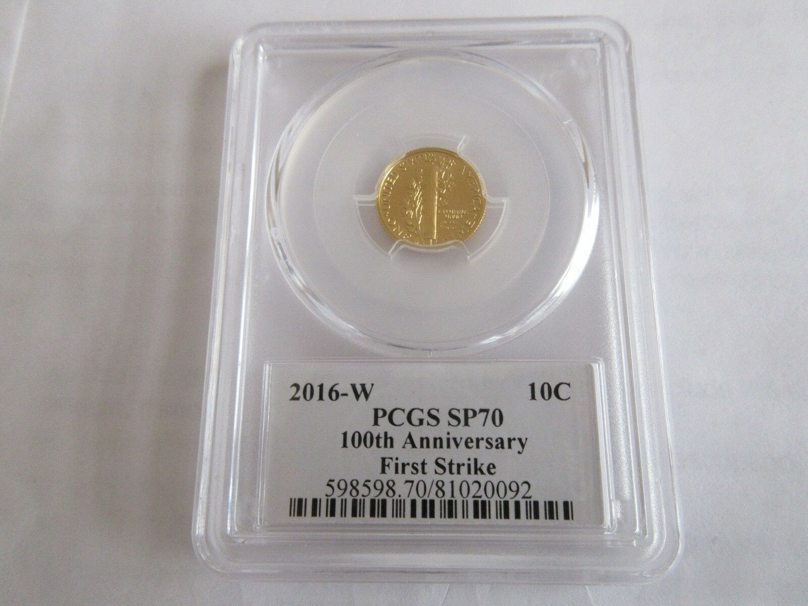 2016-W Winged Liberty Head (Mercury Dime), Gold ,PCGS ,