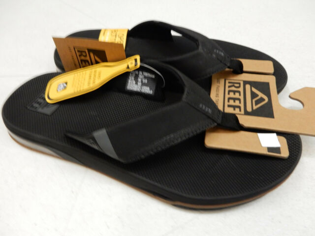 01de976f4346 Reef Fanning Low Sandals Black Flip Flops With Bottle Opener 2018 9. +.   55.00Brand New. Free Shipping