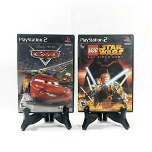 Disney Pixar Cars & Lego Star Wars The Video Game Sony PlayStation 2 PS2 Tested