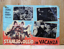 STANLIO E OLLIO IN VACANZA fotobusta poster Perfect Day Live Ghost Laurel Hardy