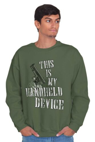 This Is My Handheld Device Funny 2nd Amendment Arms Gift Pullover Sweatshirt