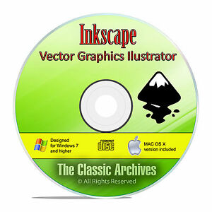 Details about Inkscape, The Professional Graphics Illustrator Drawing  Software, Win/Mac CD F20