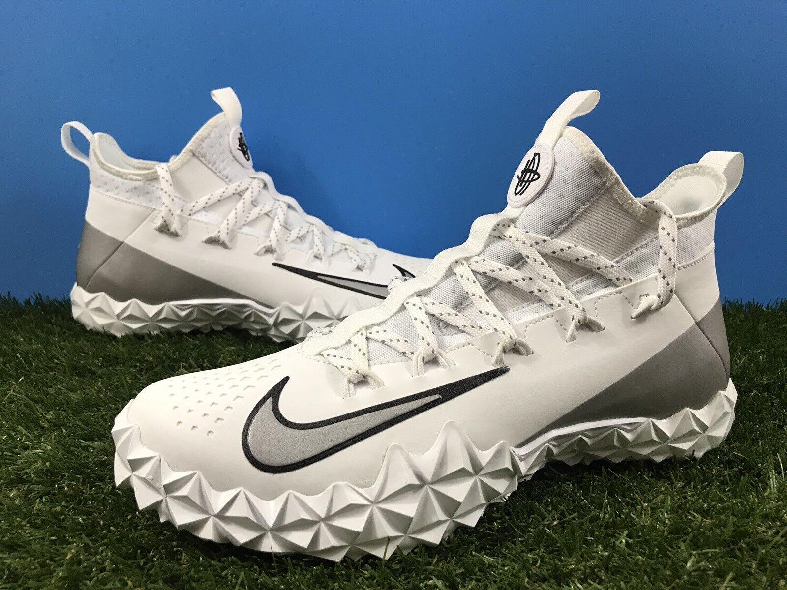 Nike alpha huarache 6 elite territorio aeroporto le scarpe da lacrosse 923426-101 Uomo sz 9,5