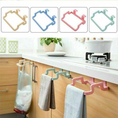 Kitchen Waste Carrier Bin Bag Holder Hanging Hook Rubbish Reuse Garbage Rack