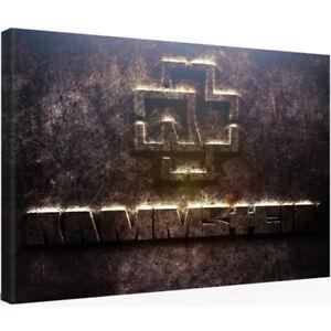 Leinwandbild RAMMSTEIN LINDEMANN 30 x 20 SHIRT VINYL TICKET Kunstdruck NEU