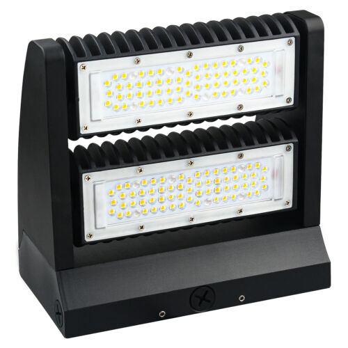 LED Wall Pack light 40W 80W Rotatable Adjustable Head Outdoor Area Parking Lamp