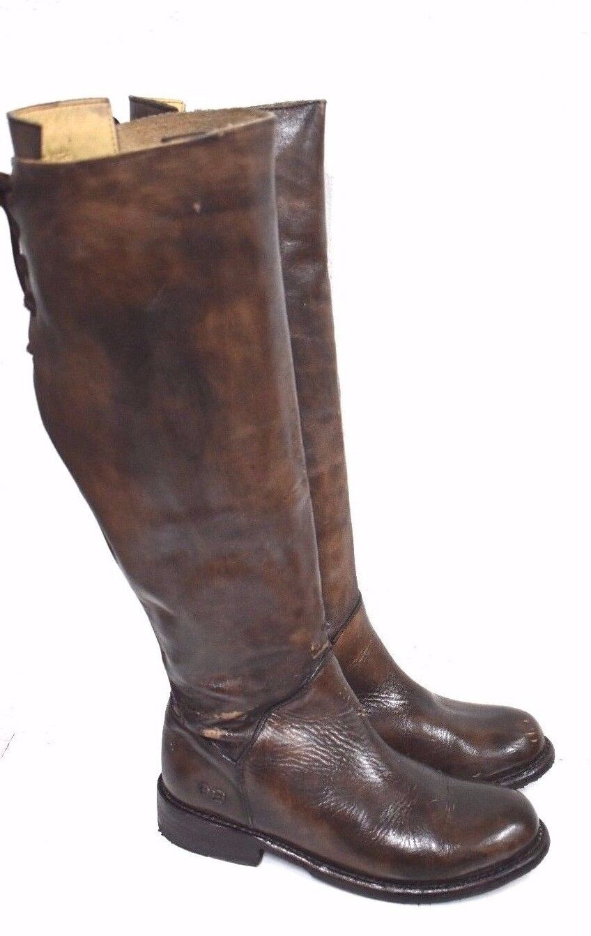 Bed Stu Manchester Teak Glaze Cobbler Series Tall Lace Up Leather Boots 6.5   2