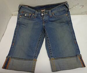 True Religion Elastico Pantalones Cortos Rodilla Hi Jeans Tamano 28 Desde Entrepierna 13 Rn 112790 Sophie Ebay
