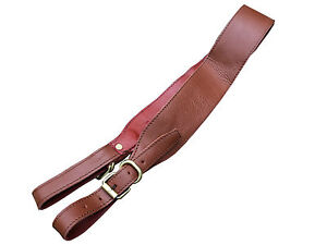 Leather Shotgun Rifle Sling for Shooting Hunting Trap Clay Pigeon