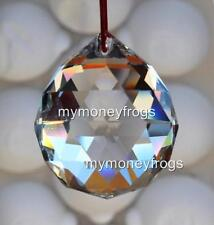 Small Crystal Clear Feng Shui Faceted Hanging Prism Glass Ball Sun Catcher