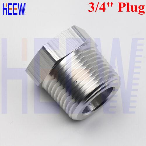 "NEW Cored Hex Head Plug Pipe 3//4/"" inch Male NPT Bung Fitting thread Adaptor SIL"
