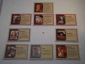 Details about Partner Cards Set Full Replacement Piece Indiana Jones GAME  OF LIFE Board Game