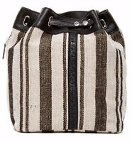 Kelsi Dagger Dusen Jute Cotton Black Multi Backpack With Tag $188