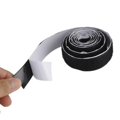 1 M 2 Rolls Fastening Tape Strong Self Adhesive Sticky Strip Hook Loop Fastener