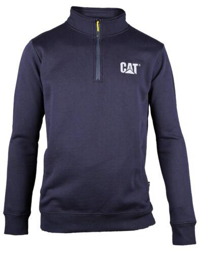 CAT Caterpillar Canyon 1//4 Felpa Zip Lavoro Resistente da Uomo Sweater Jumper