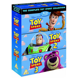 TOY-STORY-TRILOGY-Blu-Ray-Box-Set-Complete-1-2-3-Disney-amp-Pixar-All-3-Movies
