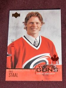 03-04-UD-Exclusives-ERIC-STAAL-28-50-Young-Guns-Rookie-RC-L-K-RARE-206
