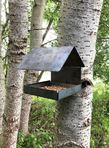 Rustic Bird Seed Squirrel Wildlife Feeder Home Garden Allotment Tree Wall Mounte