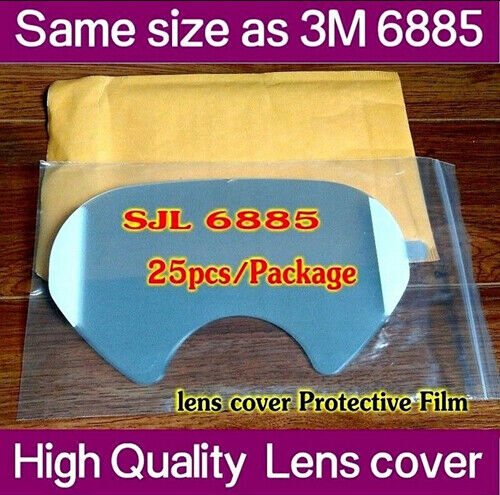 500pc SJL 6885 protective film Same 3M 6885 LENS COVER for 6800 Respirator