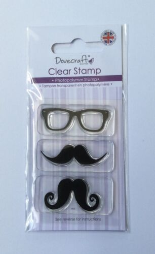 Mustache And Glasses Clear Stamps Dovecraft