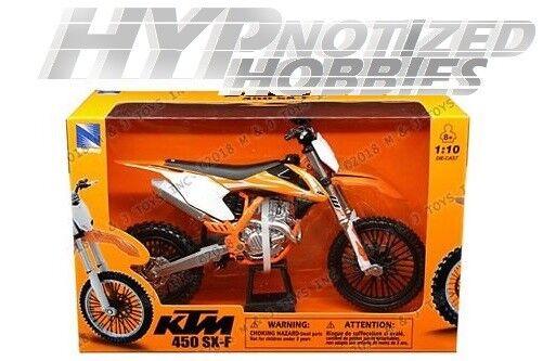 NewRay 1:10 Scale Dirtbike KTM 450SX-F KTM 450SX 2018//Orange