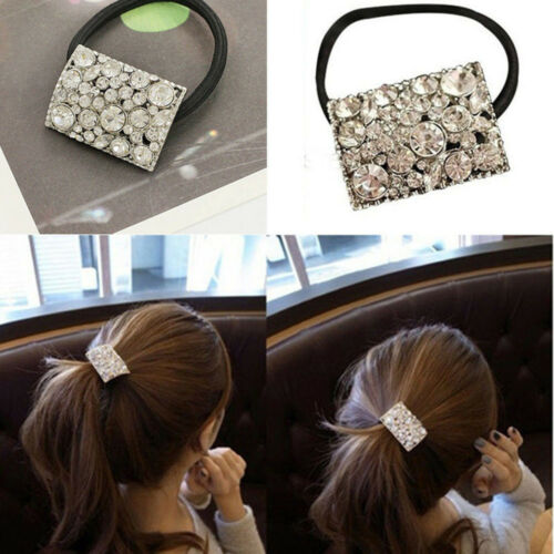 Women Hair Rope Tie Cristal Strass Ponytail Holder Hair Band Accessories