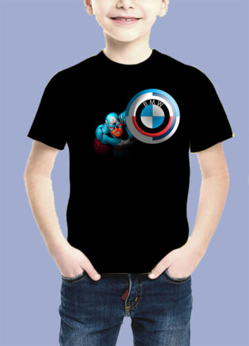 T-SHIRT BAMBINI AUTO CAR BMW tifosi Fun Logo Tee