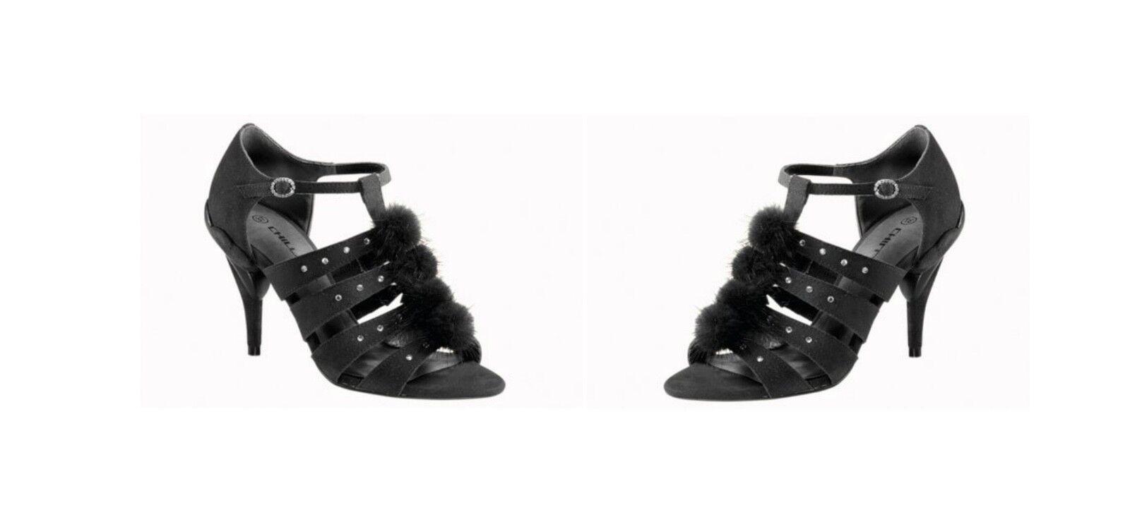 Man/Woman CHILLANY Heine Sandalen Sandalette, cost Schwarz Special purchase Medium cost Sandalette, Immediate delivery 55a3d7