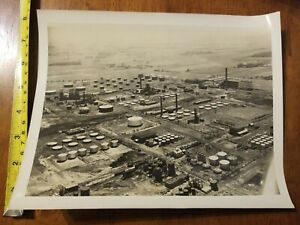 VINTAGE-PHOTO-AERIAL-VIEW-INDUSTRIAL-PLANT-NUCLEAR-POWER-HOUSE