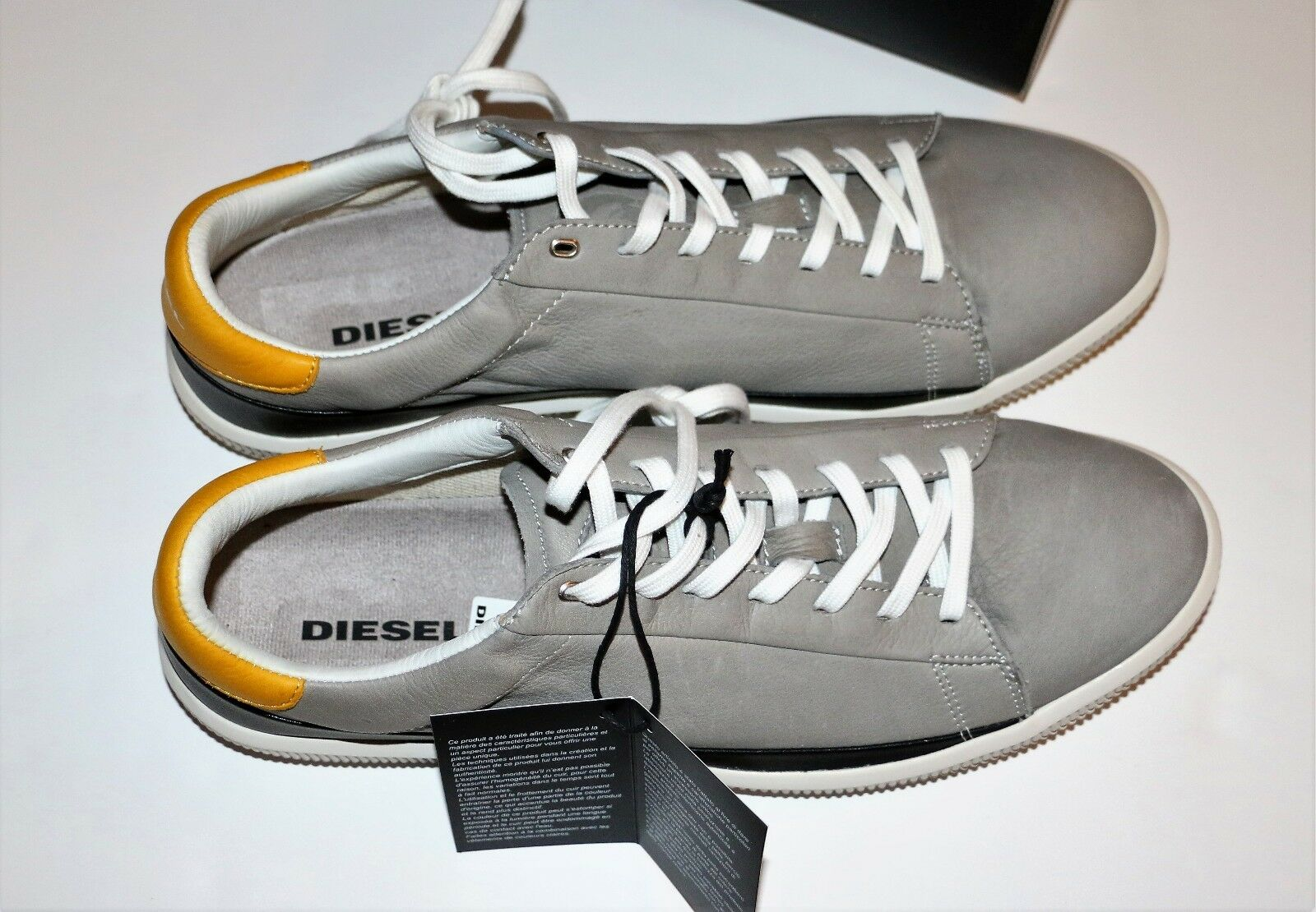 Nuevo Diesel gris y Negro dyneckt S-naptik LOW TOP zapatillas Zapatos De Hombre M
