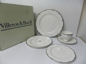 villeroy boch antibes bone china 5 pc place setting new in box ebay. Black Bedroom Furniture Sets. Home Design Ideas