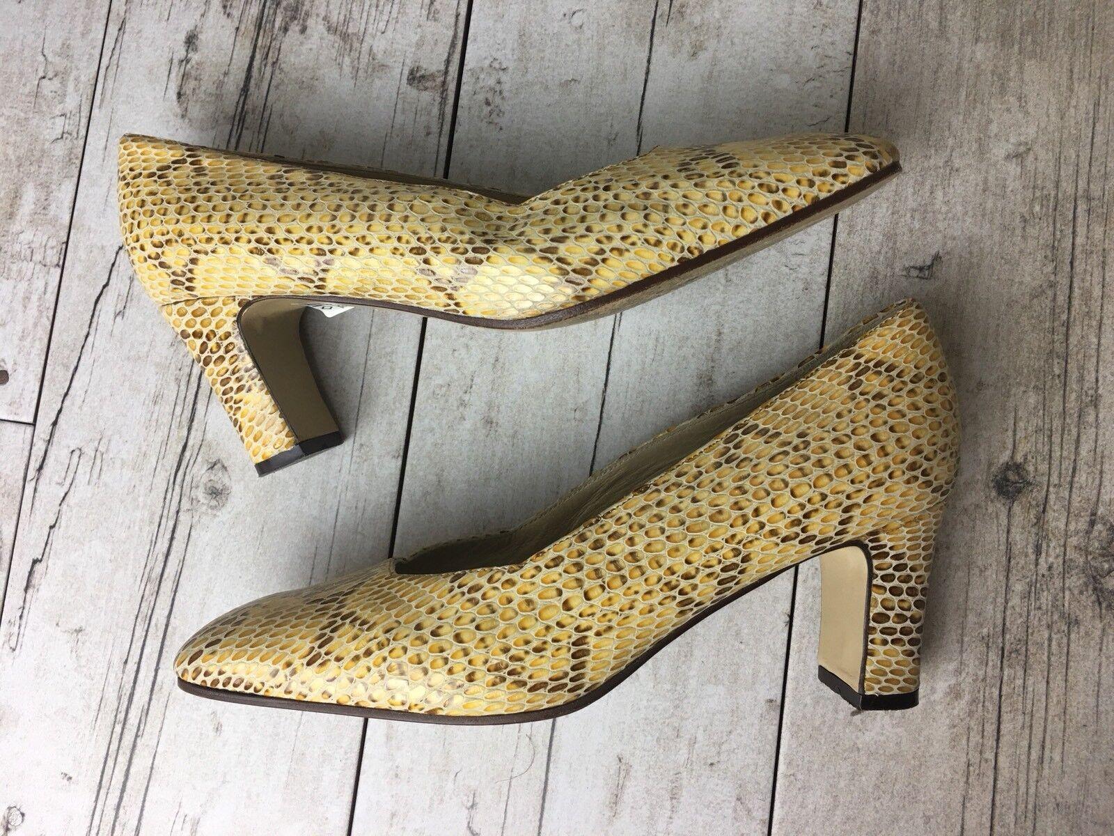 Merianna damen Größe 40 Snake Snake Snake Skin Pattern schuhe Made In  US 10 Tan Gelb 073ab7