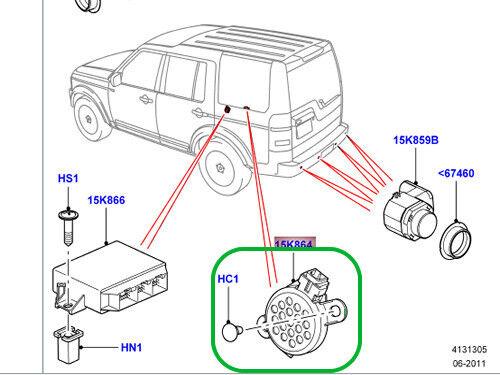LAND ROVER PARKING CONTROL AID SPEAKER RANGE ROVER LR3 LR4 SPORT OEM LR006482