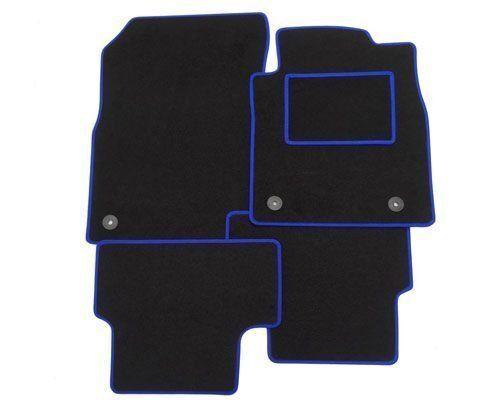 TOYOTA Avensis 2 Clip COMPLETAMENTE SU MISURA tappetini per auto blu bordo di taglio 2011 in