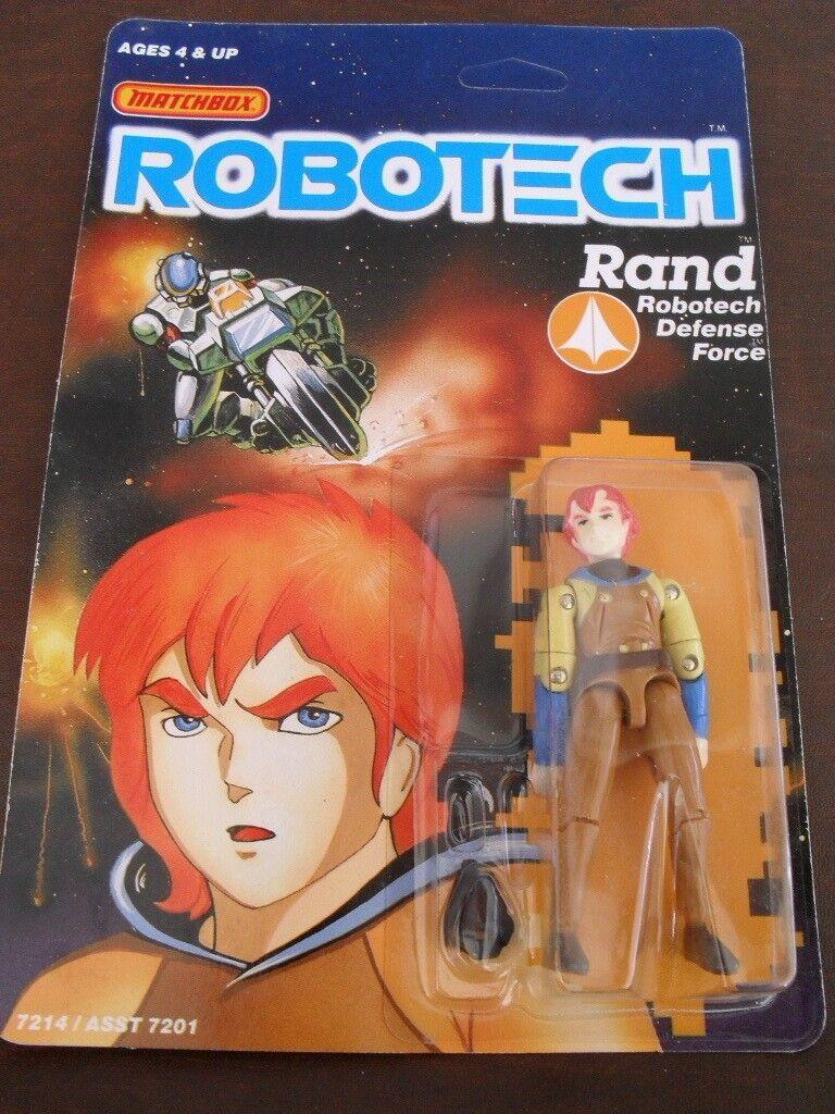 NEW MINT ON CARD - RAND Action Figure Robotech Matchbox 1985 1980s MOC