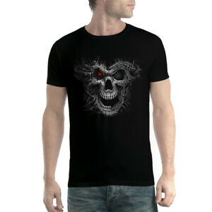 Cyborg-Skull-Men-T-shirt-XS-5XL-New