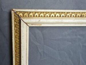 Antique-Ornate-Gold-White-Gesso-Art-Nouveau-Picture-Frame-Fits-14-75-x-12-75