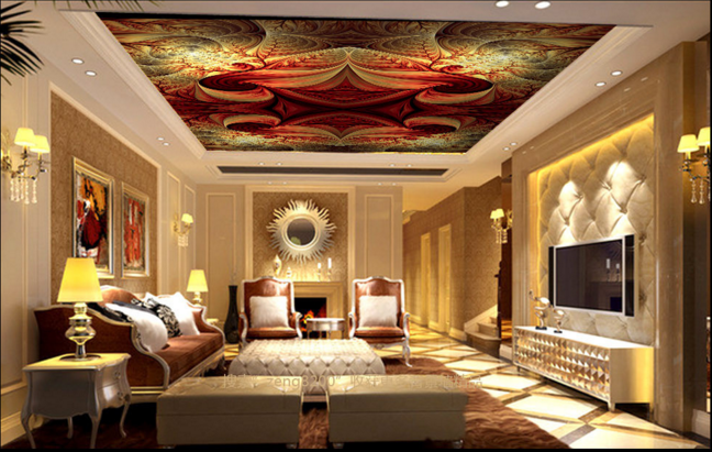 3D Abstract Style 753 Ceiling Wall Paper Print Wall Indoor Wall Murals CA Lemon