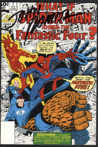 Details about John Romita Sr  SIGNED What If? #1 Amazing Spiderman &  Fantastic Four Art Card