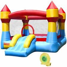 Inflatable Water Slide Mighty Bounce House Jumper Castle Moonwalk W// 735W Blower