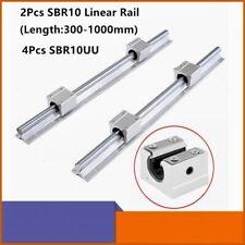 CNC Set 25-1250mm 2x Linear Guideway Rail 4 x Square type carriage bearing block