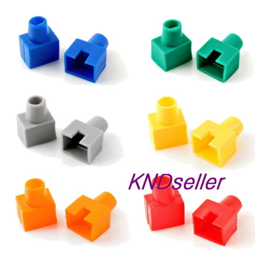 120PCS Mixed color Square Boots Cap Plug for RJ45 Cat5 Cat6 Modular Connector
