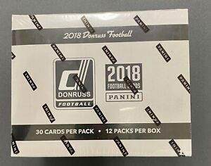 2018 Donruss Football Factory Sealed Jumbo Fat Pack Box-360 Cards! 48 Parallels