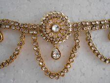 Belly Dance Kundan Pearls Waist Hip Chain Belt Tagdi Tagri Gold Tone Waistbelt