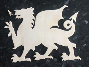 Corte láser Galés Dragón Gales CRAFT formas de abedul Adornos galés Logotipo De Madera