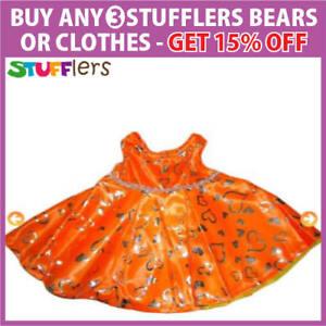 Orange-Dress-Clothing-Outfit-by-Stufflers-Fits-Medium-Sized-40cm-Plush-Toys