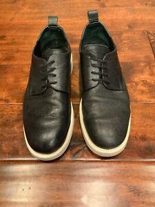 Public-School-Black-Leather-Derby-Sneakers-Size-8