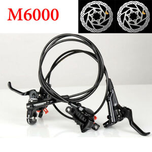Shimano-Deore-M6000-MTB-Hydraulic-Disc-Brake-Set-Front-amp-Rear-Ice-Tech-RT56-Rotors