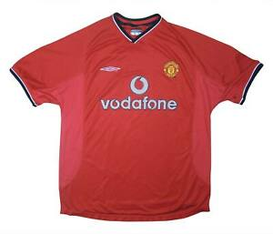 Manchester United 2000-02 Authentic Home Shirt (OTTIMO) L soccer jersey